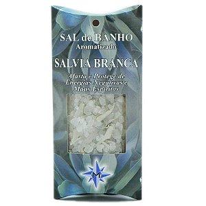 Sal de banho aromatizado - Sálvia Branca - 100g