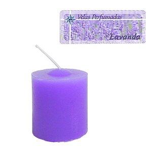 Kit 3 Velas Perfumadas de 1 dia - Aroma Lavanda