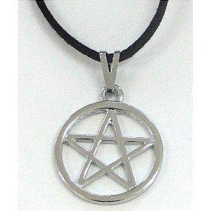 Gargantilha Pentagrama com aro 25mm