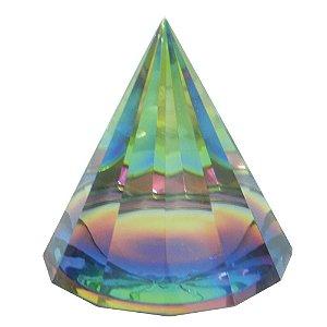 Pirâmide de vidro Colorida M