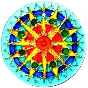 Mandala Sol Azul Grande