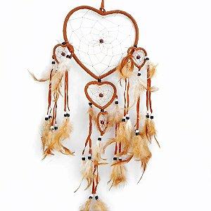 Filtro do Sonhos 5 corações -Marrom