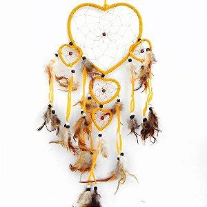Filtro do Sonhos 5 corações -Amarelo