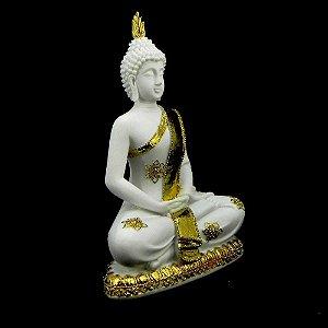 Buda em resina com pó mármore