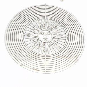 Espiral de sol em metal