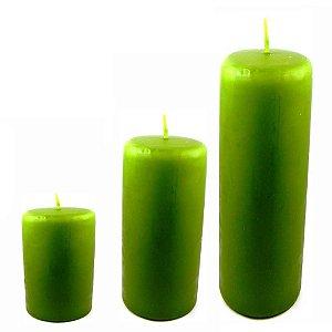 Kit com 3 velas para decoração Verde