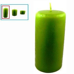 Vela para decoração grande, verde