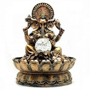 Fonte Ganesha com Bola de Luz Bivolt