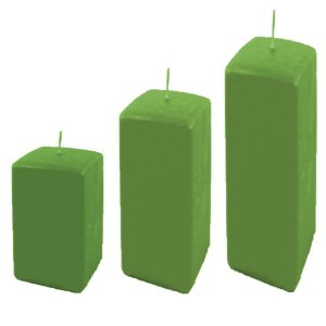 Kit 3 velas decorativas natalinas verde