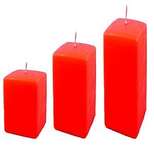 Kit 3 velas decorativas natalinas vermelhas