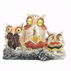 Trio de corujas Sábias