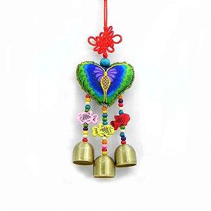 Mobile Feng Shui- Coração com Peixes