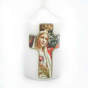 Vela de devoção Cruz Nossa Senhora de Fátima 140g