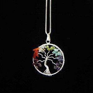 Pingente 7 Chakras Árvore da Vida