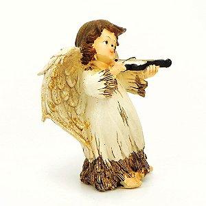 Anjo com Violino em resina