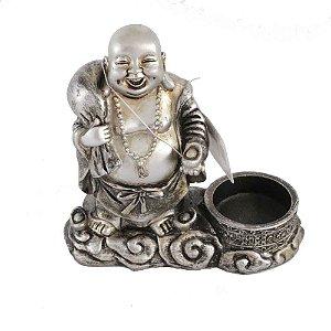Buda Sorridente com porta velas