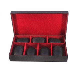 Kit de pedras vulcânicas para massagem
