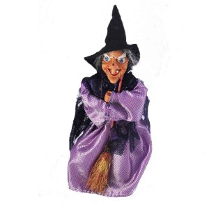 Bruxa tecido cetim roxo