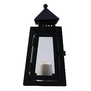 Porta vela LED lanterna casinha