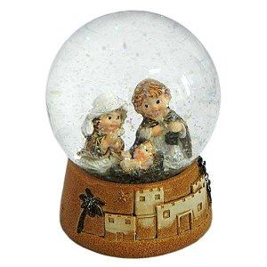 Globo de Vidro Presépio Nascimento de Jesus