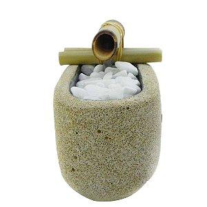 Fonte D'agua cimento celular oval