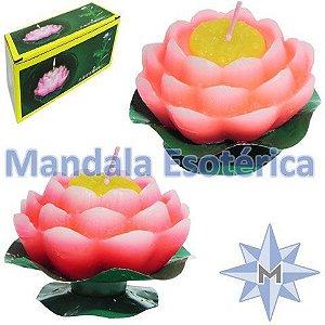 Vela Flutuante Flor de lótus Grande Cx com 2