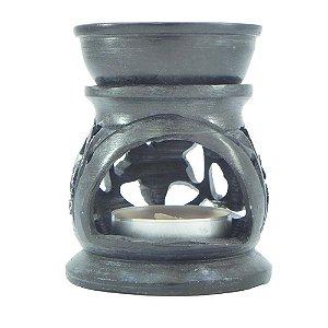 Rechô De Essência Em Pedra Sabão Preto