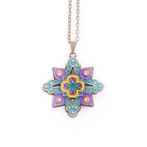 Gargantilha Mandala com formato de Flor