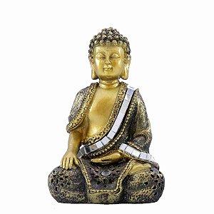 Buda em Meditação Dourado