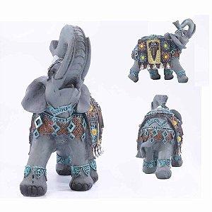 Elefante Étnico com detalhes em Azul