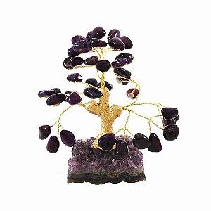 Árvore de pedra Ametista - Base: Drusa Ametista
