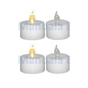 """Velas de LED """"P"""" com 4 Unidades"""