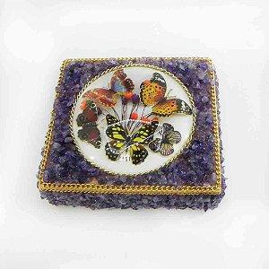 Caixa Artesanal com Pedra Ametista