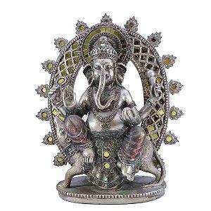 Ganesha Envelhecido Ouro Velho