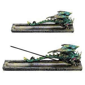 Incensário de Dragão - Verde