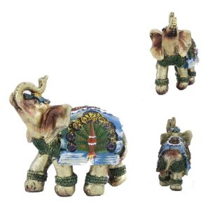 Elefante Étnico com manto Azul
