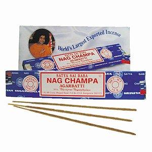 Incenso NAG CHAMPA Agarbatti Satya Sai Baba 1 Caixa com 12 Caixinhas