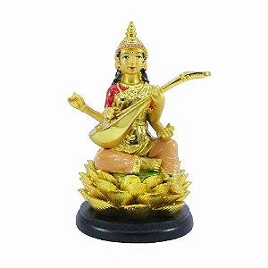 Shiva sentada na flor de Lótus