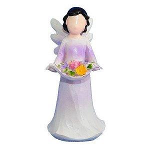 Anjo sem rosto criança - Roxo