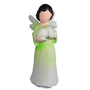 Anjo sem rosto criança - Verde