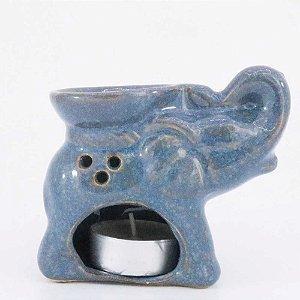 Rechô de Cerâmica com Formato de Elefante - Azul