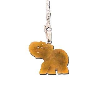 Pingente de Elefante em Pedra