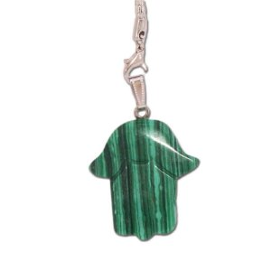 Pingente de Mão em Pedra Verde