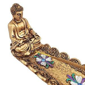 Incensário Buda Premium Dourado