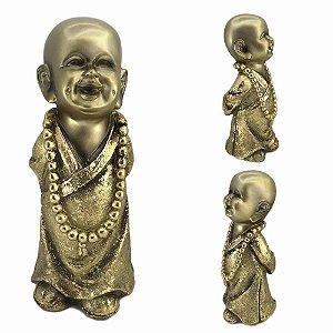 Buda Mantra em resina - Dourado - B