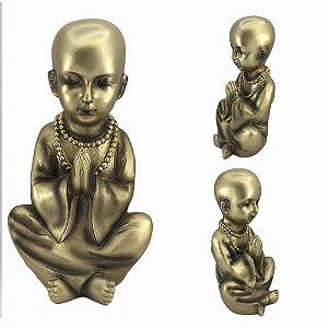 Monge Mantra Dourado em resina - A