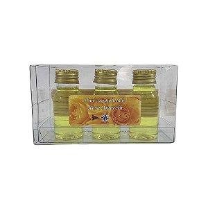 Mini Aromatizador com 3 - Rosa Amarela