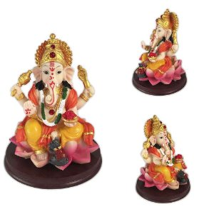Ganesha colorido na flor de lótus