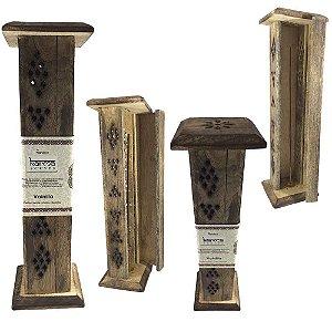 Incensário de Madeira - Aroma Vanilla (baunilha)