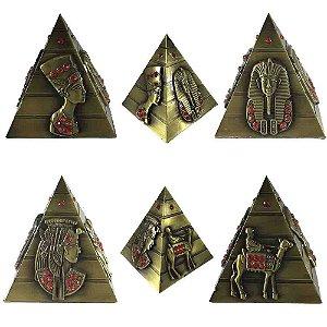Piramide Egípcia  Strass - Dourada